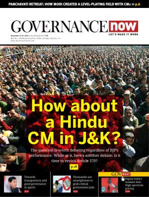 Governancenow Volume 5 issue 22 - Read on ipad, iphone, smart phone and tablets.