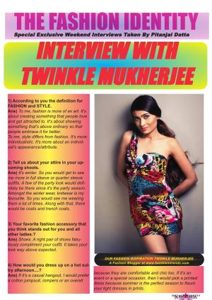 The Fashion Identity Interview With Twinkle Mukherjee Taken By Pitanjal Datta