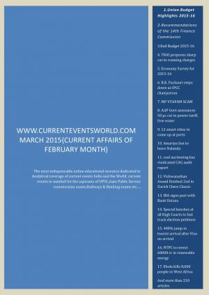 CURRENTEVENTSWORLD.COM MARCH 2015