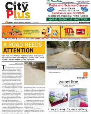 Bangalore -Whitefield / Marathahalli_Vol-8_Issue-26_Date-13 March 2015 to 19 March 2015