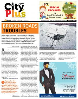 Banjarahills, Vol 6- Issue 11, 14-20 March 2015 - Read on ipad, iphone, smart phone and tablets.
