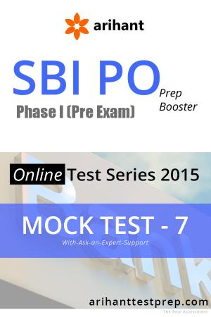 SBI PO(Pre) Mock Test 7 - Read on ipad, iphone, smart phone and tablets