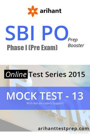 SBI PO(Pre) Mock Test 13