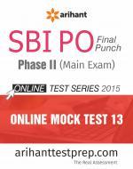 SBI PO (Mains) Online Mock Test 13