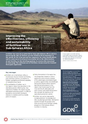 Improving the effectiveness, efficiency and sustainability of fertilizer use in Sub-Saharan Africa - Read on ipad, iphone, smart phone and tablets.