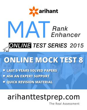 MAT Online Mock Test 8 - Read on ipad, iphone, smart phone and tablets