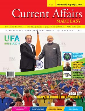 Current Affairs Made Easy-July to September 2015 - Read on ipad, iphone, smart phone and tablets.