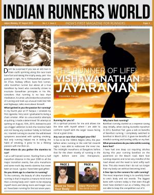 Indian Runners World August 2015