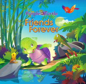 Purple Turtle - Friends forever  - Read on ipad, iphone, smart phone and tablets