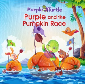 Purple and the Pumpkin race - Read on ipad, iphone, smart phone and tablets.
