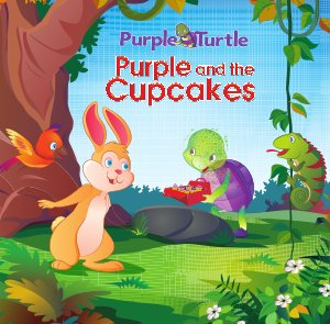 Purple and cup cakes  - Read on ipad, iphone, smart phone and tablets.