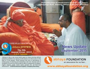abhaya News Update - September 2015
