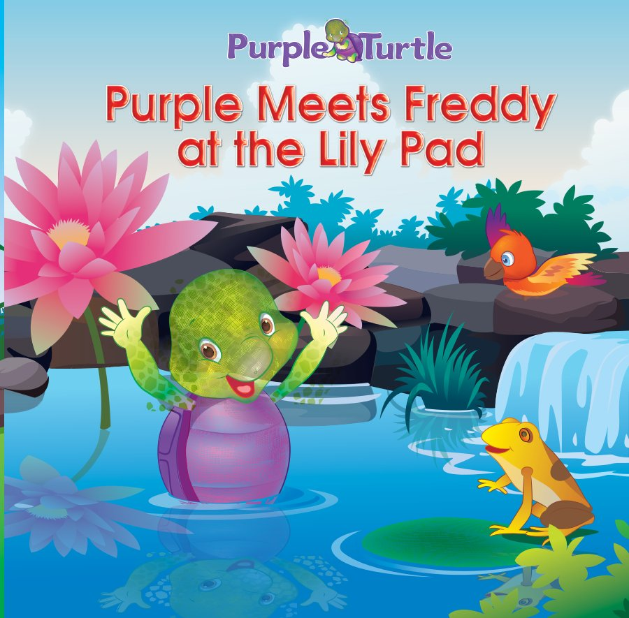 Purple Meets Freddy at the Lilly Pad - Read on ipad, iphone, smart phone and tablets.