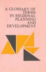 A Glossary of Terms in regional Planning and Development