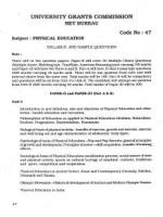 UGC NET / JRF Syllabus for Physical Education (47)
