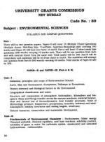 UGC NET JRF Syllabus for Environmental Sciences (89)