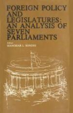 Foreign Policy and Legislatures - An Analysis of Seven Parliaments