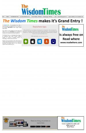 The Wisdom times - Read on ipad, iphone, smart phone and tablets.