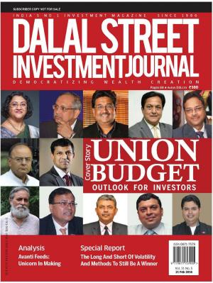 Dalal Street Investment Journal 21 February, 2016 Vol. 31, Issue. No.5  - Read on ipad, iphone, smart phone and tablets.