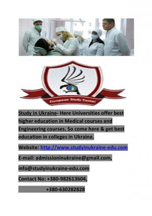 Study in Ukraine University Higher Education In Ukraine