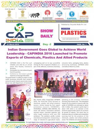 Modern Plastics India Show Daily  - Read on ipad, iphone, smart phone and tablets.