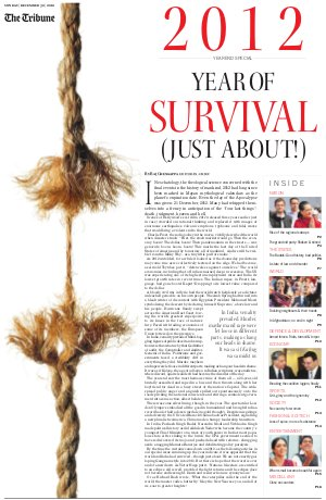 2012 - The Year of Survival - Read on ipad, iphone, smart phone and tablets.