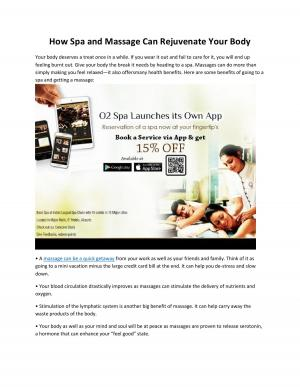 How Spa and Massage Can Rejuvenate Your Body - Read on ipad, iphone, smart phone and tablets.
