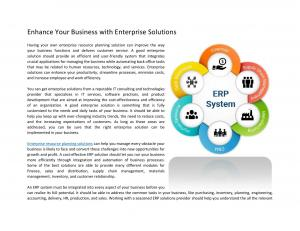 Enhance Your Business with Enterprise Solutions - Read on ipad, iphone, smart phone and tablets.