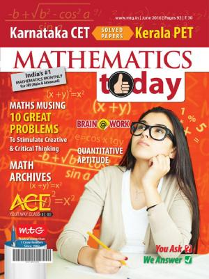 Mathematics Today- June 2016 - Read on ipad, iphone, smart phone and tablets.