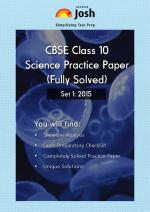 CBSE Class 10th Solved Science Practice Paper 2015 Set-I