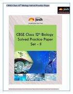 CBSE Class 12th Solved Biology Practice Paper Set - II : E-Book