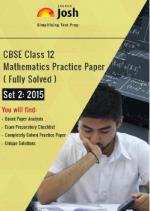CBSE Class 12th Solved Mathematics Practice Paper 2015 Set-2