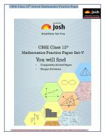 CBSE Class 12th Solved Mathematics Practice Paper Set- V: E-Book