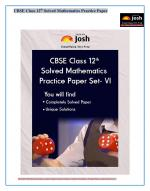 CBSE Class 12th Solved Mathematics Practice Paper Set- VI: E-Book