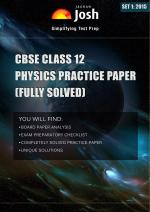 CBSE Class 12th Solved Physics Practice Paper 2015 Set-1