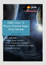 CBSE Class 12th Solved Physics Practice Paper 2015 Set-2