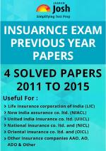 Insurance Exam Previous Year Papers 2011 - 2015 eBook