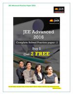 JEE Advanced Solved Practice Paper -1, Set -IX eBook