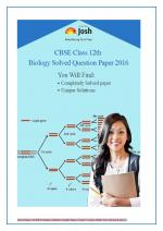CBSE Class 12th Solved Question Papers PCMB - eBook