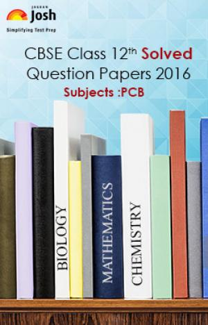 CBSE Class 12th Solved Question Papers PCB - EBook e-book in