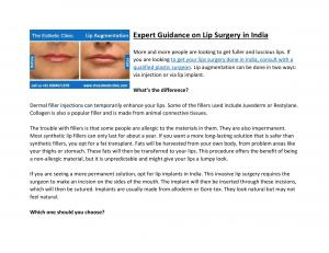 Expert Guidance on Lip Surgery in India - Read on ipad, iphone, smart phone and tablets.