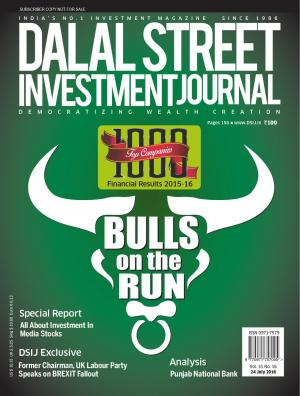 Dalal Street Investment Journal Vol 31 Issue no 16  July 24, 2016 - Read on ipad, iphone, smart phone and tablets.