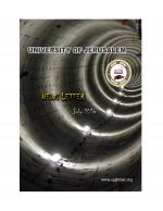 University of Jerusalem - Newsletter