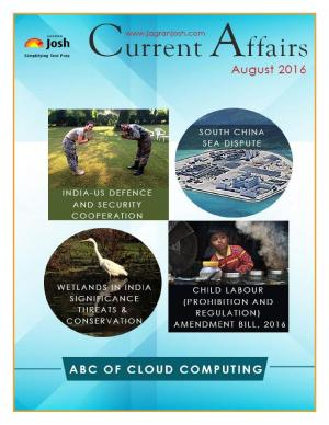 Current Affairs August 2016 eBook - Read on ipad, iphone, smart phone and tablets.
