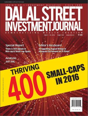 Dalal Street Investment Journal Vol 31 Issue no 20  September 18, 2016 - Read on ipad, iphone, smart phone and tablets.