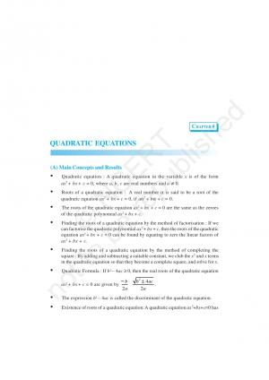 NCERT Exemplar Solutions Mathematics Class 10 Chapter 4 - Quadratic Equations - Read on ipad, iphone, smart phone and tablets.