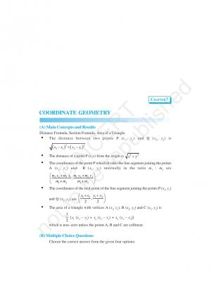 NCERT Exemplar Problems and Solution for CBSE Class 10 Maths Chapter 7 - Coordinate Geometry - Read on ipad, iphone, smart phone and tablets.