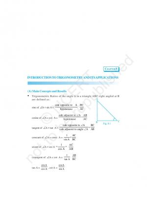 NCERT Exemplar Problems and Solution for CBSE Class 10 Maths Chapter 8 - Introduction to Trigonometry and its Applications - Read on ipad, iphone, smart phone and tablets.