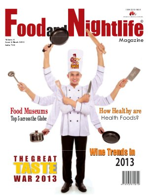 Food and Nightlife Magazine March 2013