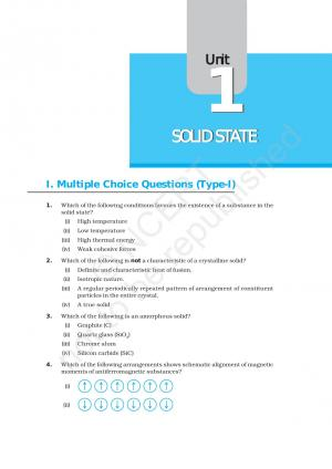 NCERT Exemplar Questions & Solutions CBSE Class 12 Chemistry - Chapter 1 Solid State - Read on ipad, iphone, smart phone and tablets.
